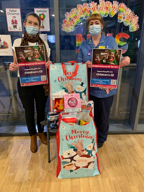 Presents delivered to the Children's Emergency Department