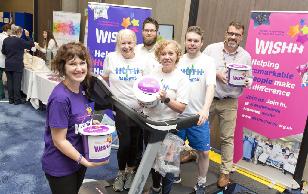 WISHH team fundraise with HUTH Harriers at Health Expo