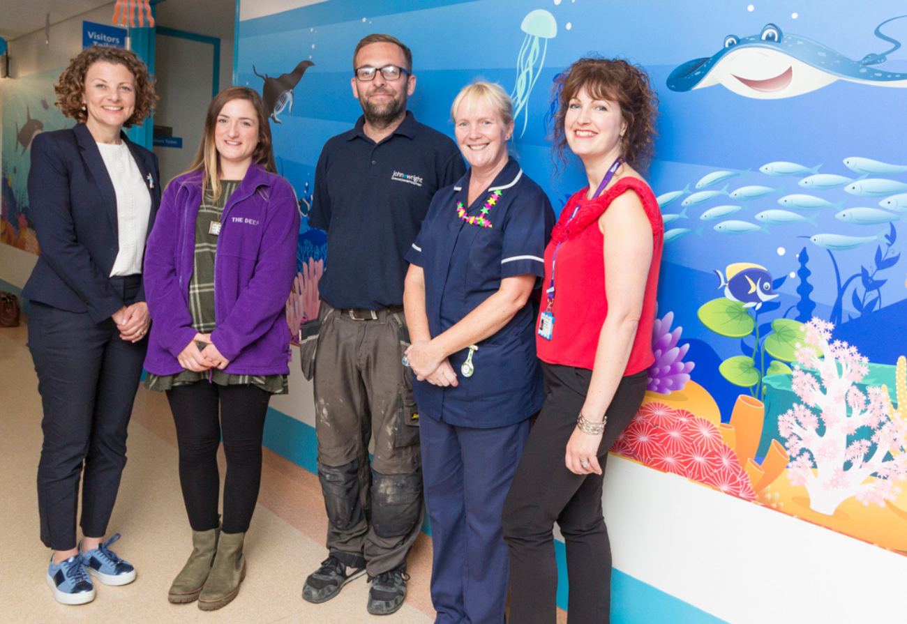 Ward staff, The Deep Team and the WISHH team