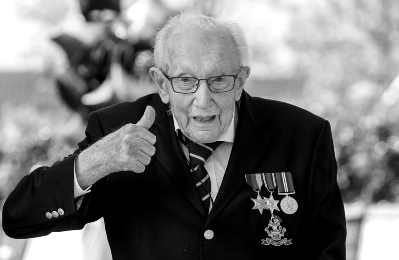 The late Captain Sir Tom Moore