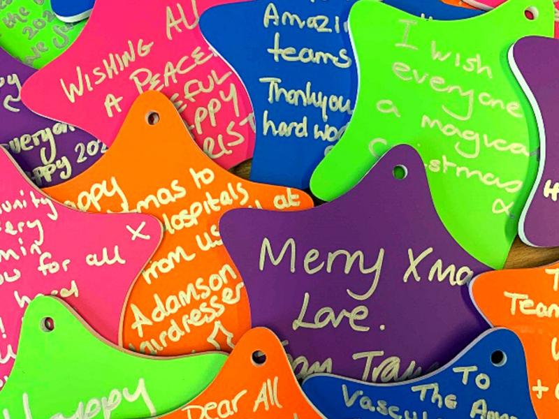 A pile of Christmas stars