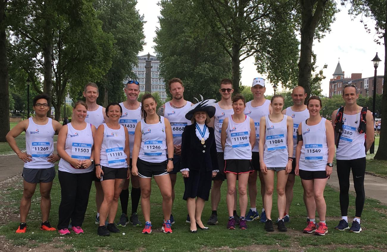 Half Marathon team for the Hull Run for All