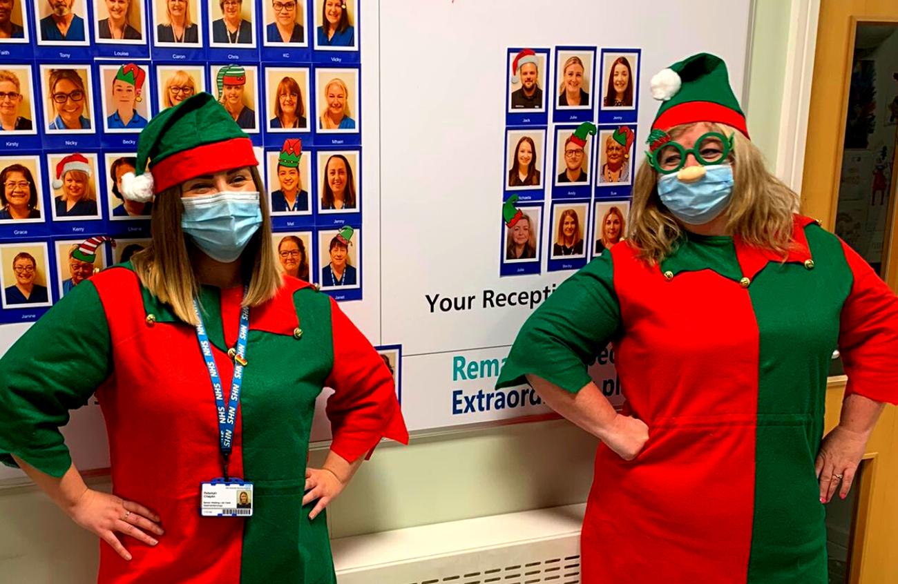 Endocrinology team dress as elves