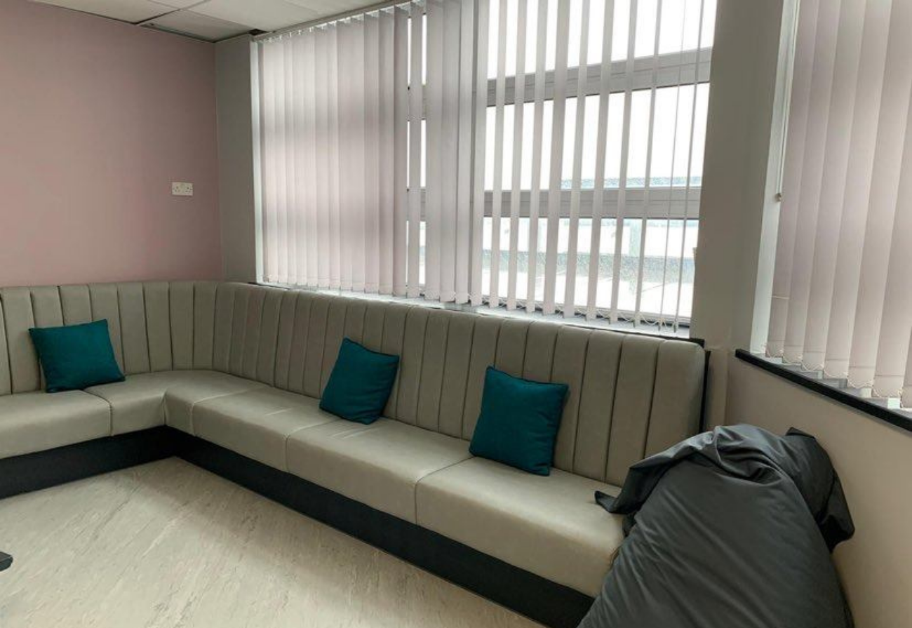 A seating area in the new staff room