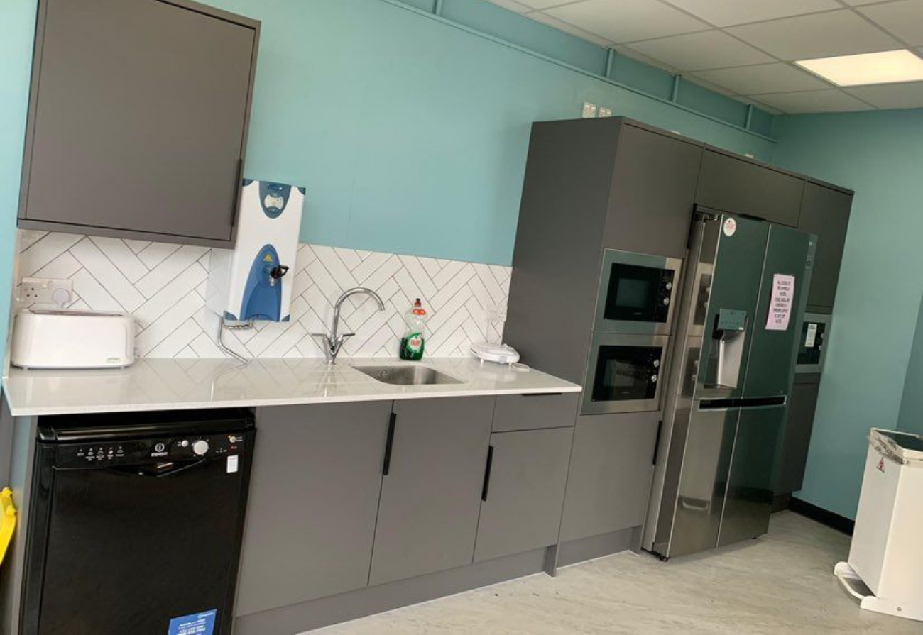 A new kitchen area