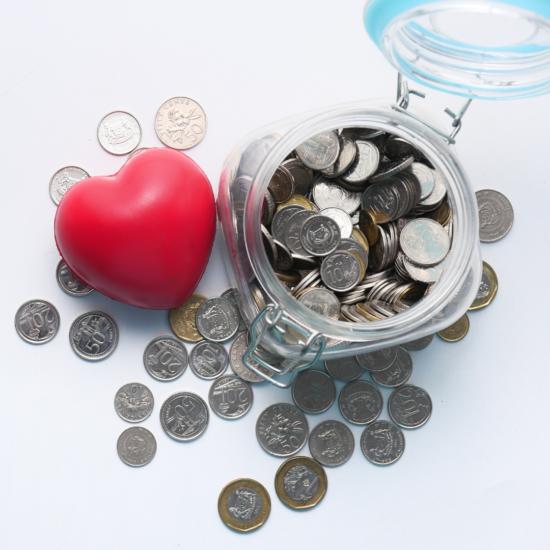 A jar of coins
