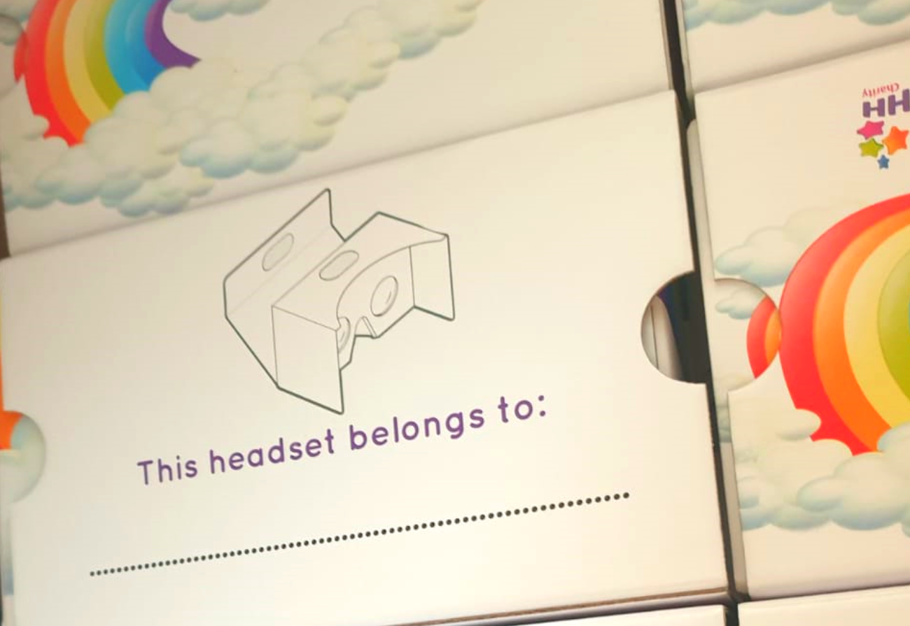 A headset box saying 'this headset belongs to'