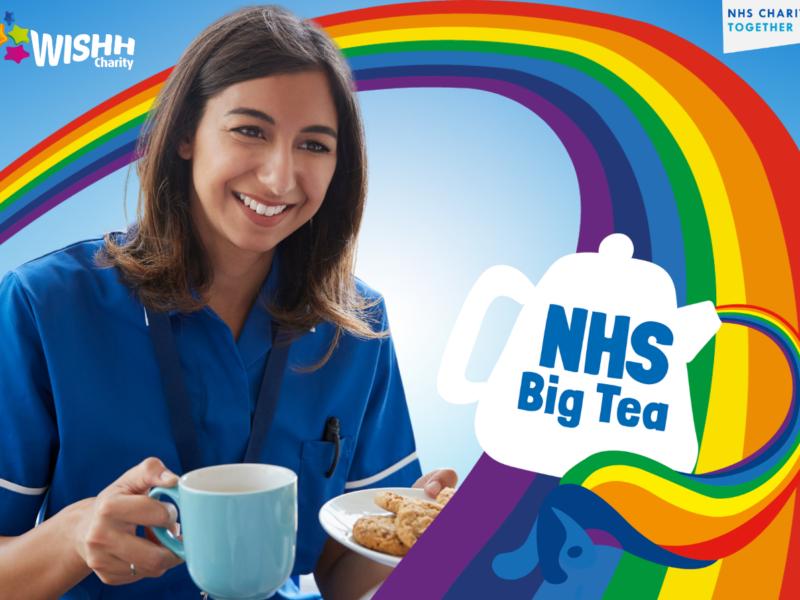 A nurse enjoys a cup of tea - NHS Big Tea