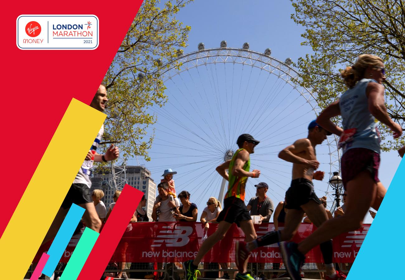 Runners take part in the London Marathon