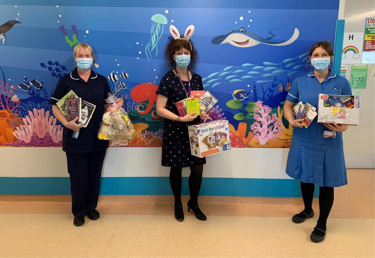 Nurses with Easter gifts