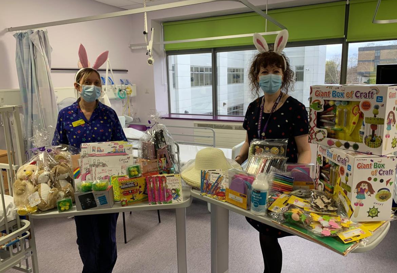 WISHH Charity delivers Easter gifts to the children's wards