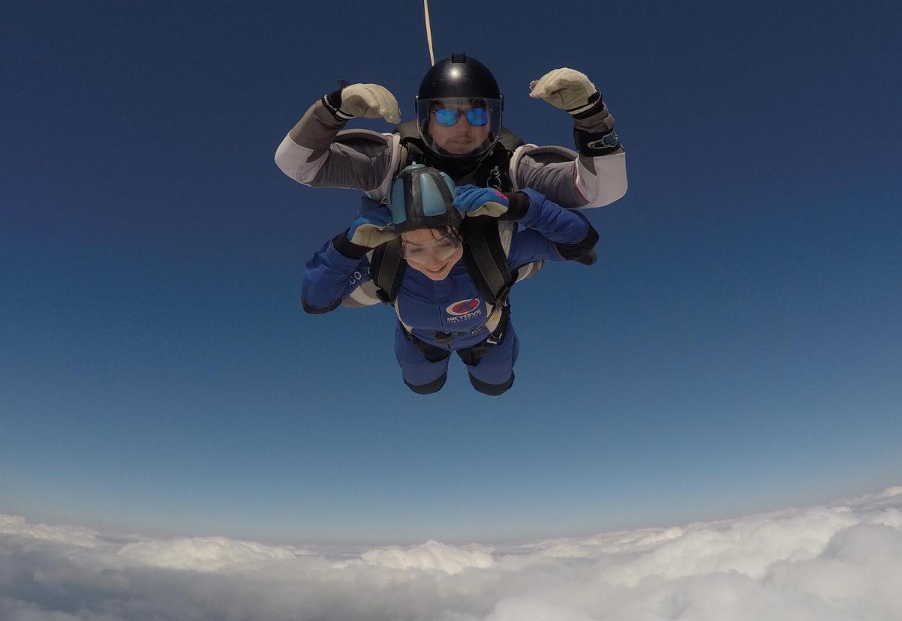 Lindsey skydiving